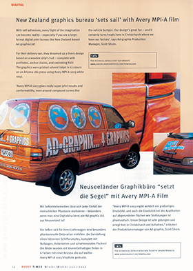 Avery Europe showcasing our van graphics (2001)